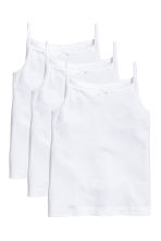 3-pack jersey strappy tops - White - Kids | H&M CN 1