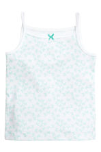 3-pack jersey strappy tops - Mint green/Butterflies - Kids | H&M CN 2