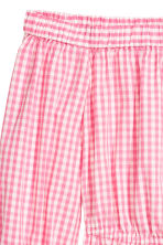 露肩洋裝 - Pink/White checked - Ladies | H&M 3