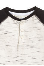 Henley shirt - Natural white/Black marl -  | H&M 3