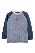 Henley shirt - Dark blue marl - Kids | H&M 2