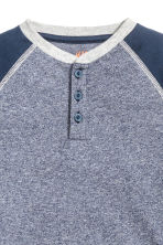 Henley shirt - Dark blue marl - Kids | H&M 3