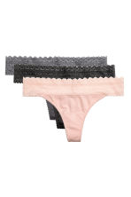 3-pack thong briefs - Powder pink - Ladies | H&M 2