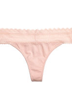 3-pack thong briefs - Powder pink - Ladies | H&M 3