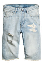 Denim shorts - Super light denim - Men | H&M 2