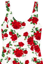 Jersey dress - White/Roses - Ladies | H&M CN 3