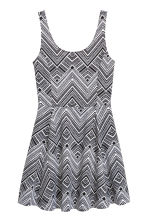 Jersey dress - Black/Patterned - Ladies | H&M CN 2