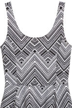 Jersey dress - Black/Patterned - Ladies | H&M CN 3