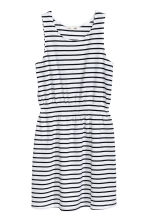 Jersey dress - White/Black striped - Kids | H&M CA 2
