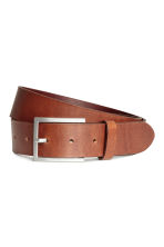 Leather belt - Dark rust red - Men | H&M 1