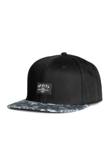 Cotton twill cap - Black - Men | H&M 1