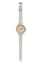 Watch with a leather strap - Light grey - Ladies | H&M CN 2