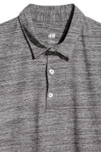 Polo shirt Slim Fit - Dark grey marl - Men | H&M 3