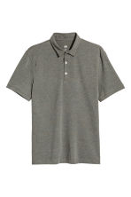 Polo shirt Slim Fit - Khaki marl - Men | H&M CN 2