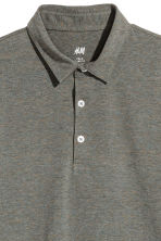 Polo shirt Slim Fit - Khaki marl - Men | H&M 3