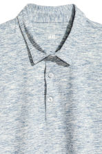 Polo - Slim fit - Blauw gemêleerd - HEREN | H&M BE 3