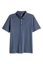 Polo shirt Slim Fit - Dark blue/Narrow striped - Men | H&M CN 2