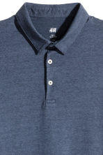 貼身Polo衫 - Dark blue/Narrow striped - Men | H&M 3