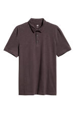 Polo shirt Slim Fit - Dark brown - Men | H&M 2
