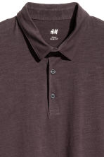 Polo shirt Slim Fit - Dark brown - Men | H&M 3