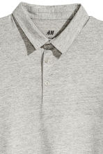 Polo shirt Slim Fit - Grey beige marl - Men | H&M 3