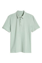 Polo shirt Slim Fit - Mint green - Men | H&M CN 2