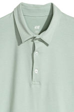 Polo shirt Slim Fit - Mint green - Men | H&M CN 3