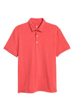 Polo shirt Slim Fit - Red marl - Men | H&M CN 2