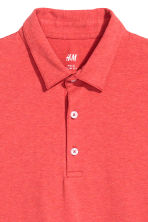 Polo shirt Slim Fit - Red marl - Men | H&M CN 3