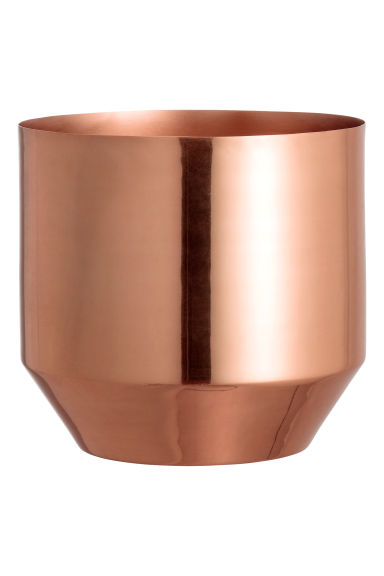 Metal plant pot - Copper - Home All | H&M CN 1