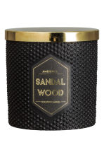 Geurkaars in houder - Zwart/Sandalwood - HOME | H&M BE 1