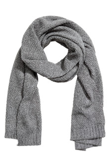 Textured-knit scarf