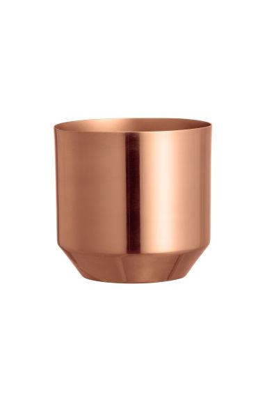 Mini pot de fleurs en métal - Cuivré - Home All | H&M FR 1