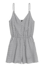 Playsuit - White/Patterned - Ladies | H&M CN 2