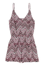 Playsuit - Light pink/Patterned - Ladies | H&M 2