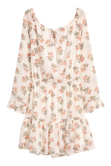 Patterned dress - White/Floral -  | H&M CN 1