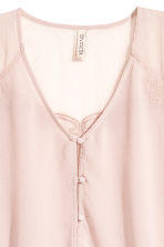 Wide chiffon blouse - Light old rose - Ladies | H&M 3