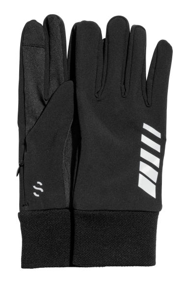 Running gloves - Black/Reflective - Men | H&M CN