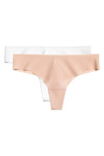 2-pack Brazilian briefs - White/Chai - Ladies | H&M 2