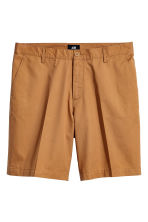 Korte chinoshort - Camel - HEREN | H&M BE 2