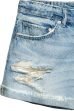 Denim short - Boyfriend - Licht denimblauw - DAMES | H&M BE 4