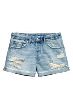 Denim shorts Boyfriend - Light denim blue - Ladies | H&M 2