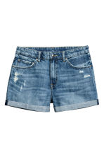 Denim shorts Boyfriend - Denim blue - Ladies | H&M 2