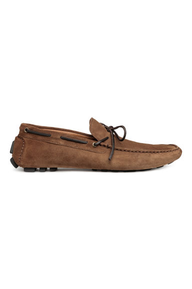 Suede moccasins - Brown - Men | H&M CN