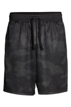 Knee-length sports shorts - Black/Patterned - Men | H&M 2