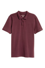 Polo shirt - Burgundy - Men | H&M CN 2