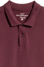 Polo shirt - Burgundy - Men | H&M CN 3