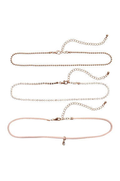 3入短頸鍊 - Rose gold - Ladies | H&M