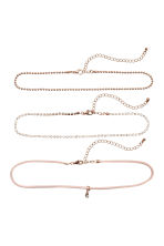 3-pack chokers - Rose gold - Ladies | H&M 1