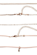 3-pack chokers - Rose gold - Ladies | H&M 2